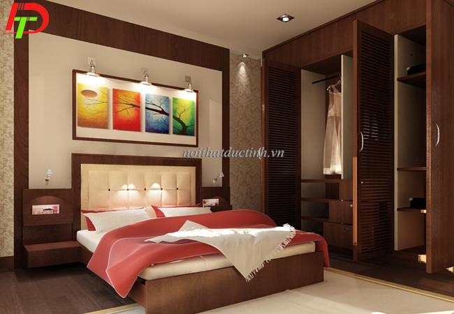 Giường ngủ cao cấp làm từ gỗ sồi mỹ