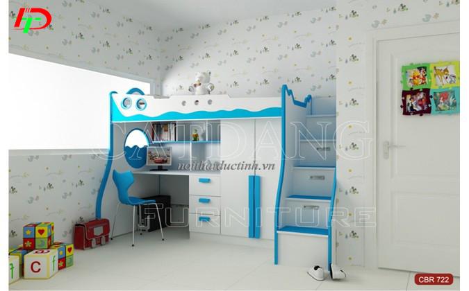 mầu giường tầng kết hợp bàn học tiện dụng