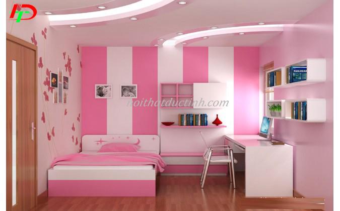 giường ngủ bé gái đẹp gam màu tươi sáng