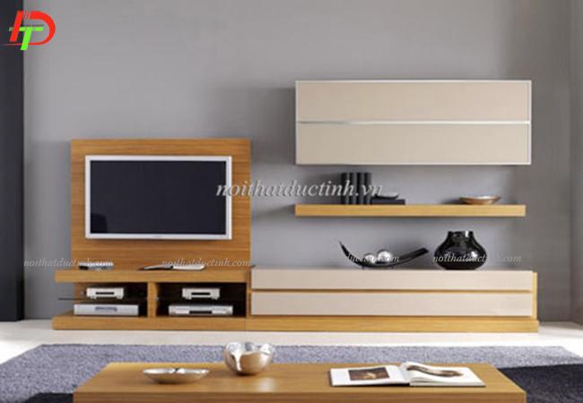 mẫu kệ tivi phòng khách đẹp chất liệu gỗ công nghiệp cao cấp