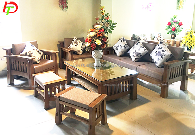 bàn ghế gỗ phòng khách đẹp sang trọng