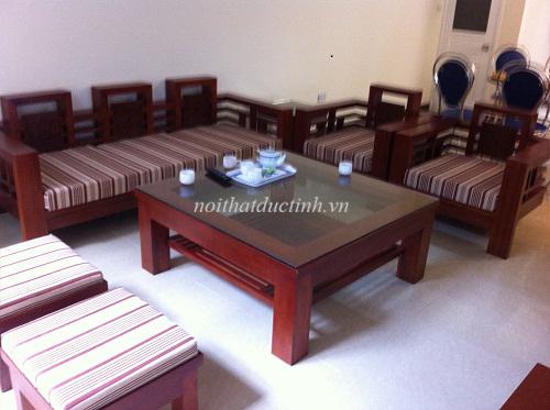 Bàn ghế gỗ phòng khách bền đẹp hiện đại