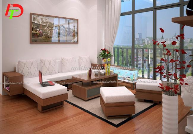 Bàn ghế gỗ cho phòng khách hiện đại, tiện nghi
