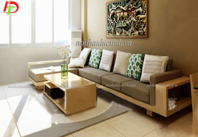 Bộ bàn ghế gỗ phòng khách nhỏ BG10