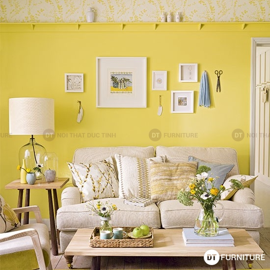 Ấn tượng với không gian phòng khách nhẹ nhàng mang phong cách đồng quê nước Pháp