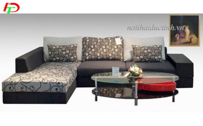 Sofa gia đình làm từ chất liệu nỉ cao cấp