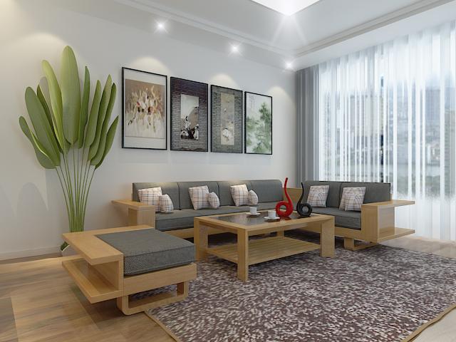 Bộ sofa gỗ hiện đại cao cấp BG09
