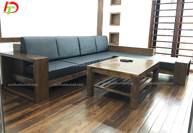 Mẫu bàn ghế gỗ phòng khách cao cấp BG06
