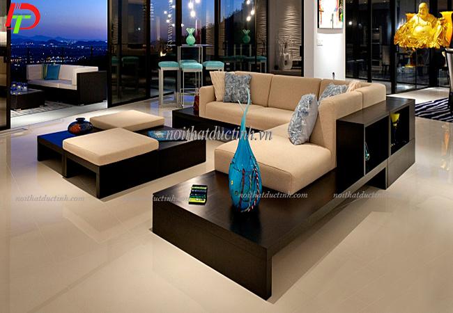 Mẫu bàn ghế gỗ phòng khách đẹp hiện đại BG05