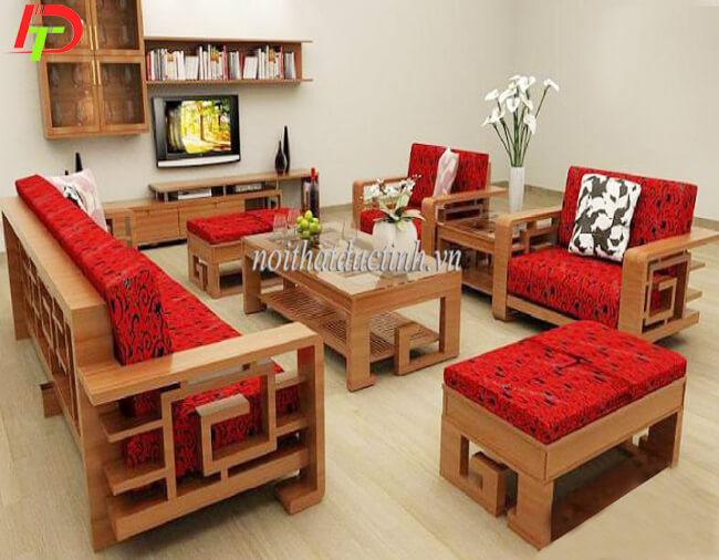 Bàn ghế gỗ phòng khách BG01