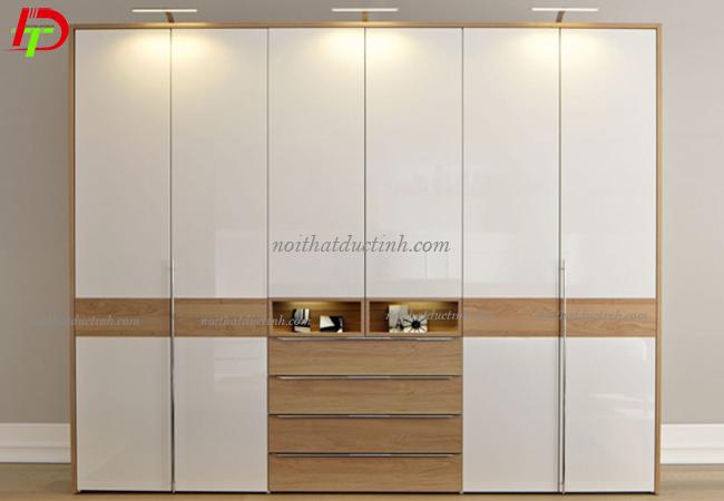 tủ quần áo hiện đại từ gỗ công nghiệp cao cấp