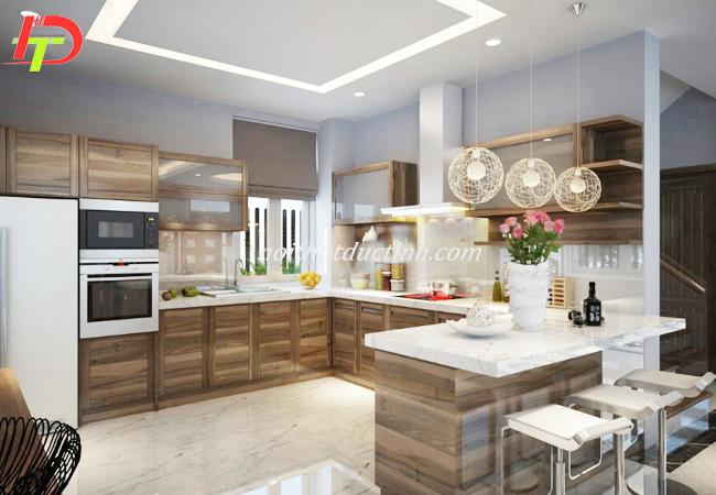 tủ bếp gỗ tự nhiên bền đẹp