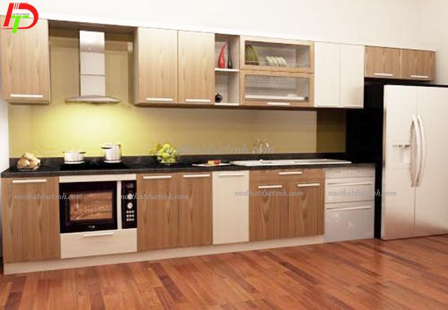 tủ bếp gỗ công nghiệp chứ I tiện dụng