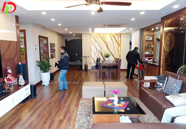 Thiết kế và thi công nội thất nhà anh Hoàn, chung cư Manderzin
