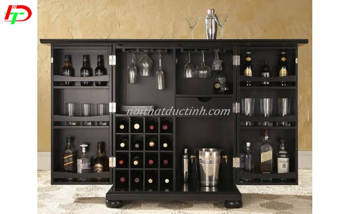 Mẫu tủ rượu thiết kế hiện đại, sang trọng