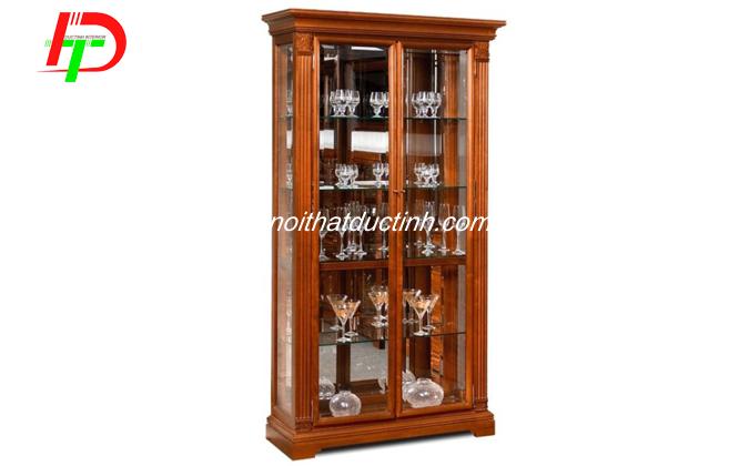 Tủ rượu đẹp hiện đại với cửa kính trong suốt