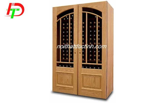 tủ rượu gỗ sồi bền đẹp giá rẻ