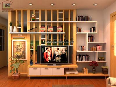 vách ngăn trang trí phòng khách đẹp hiện đại