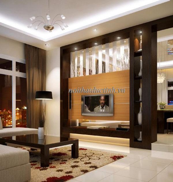 Vách ngăn phòng khách đẹp hiện đại