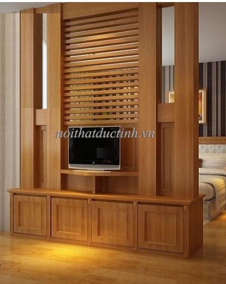 Vách ngăn phòng ngủ gỗ tự nhiên bền đẹp